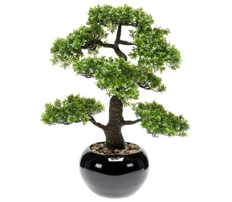 Emerald Ficus artificial mini bonsai, verde, 47 cm 420006