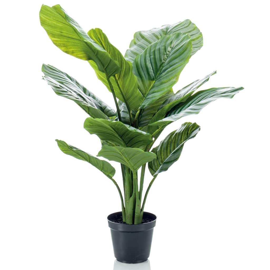 Emerald Plantă artificială Calathea Orbifolia în ghiveci 60 cm imagine vidaxl.ro