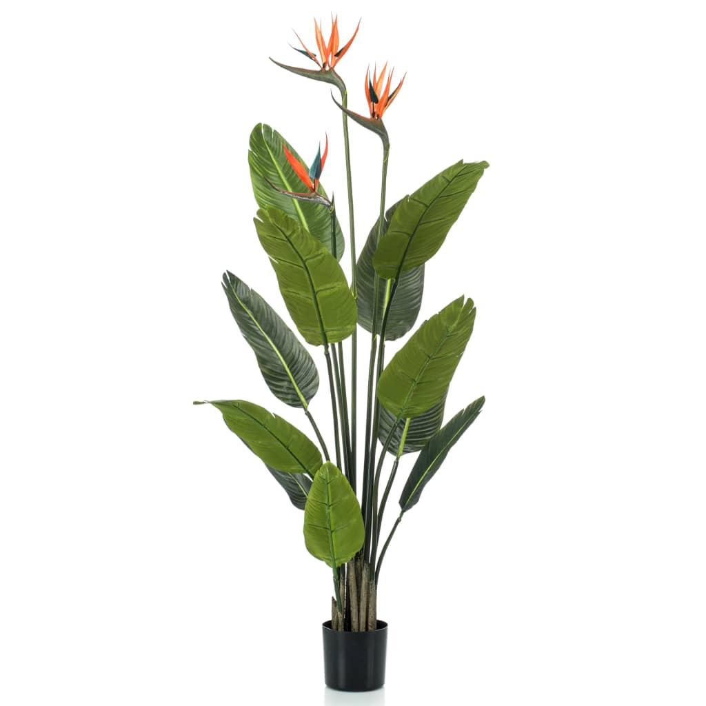 Emerald Plantă artificială Pasărea paradisului ghiveci cu flori 120 cm imagine vidaxl.ro