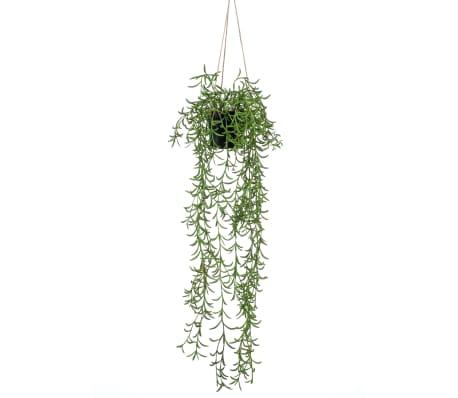 Emerald Kunstplant hangend in pot senecio 70 cm