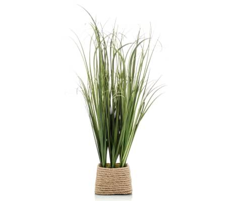 Emerald Kunstplant in touwpot grasstruik 40 cm