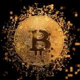 Schilderij bitcoin On The Wall