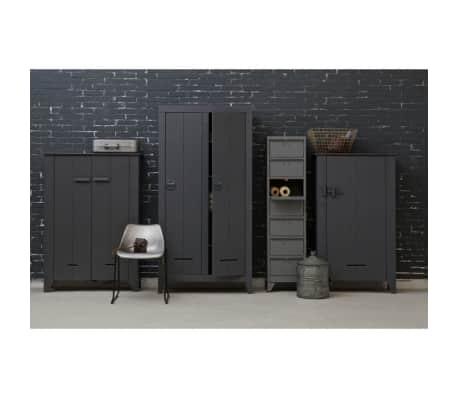 Armoire industrielle 2 portes en pin Til - Couleur - Gris anthracite[4/10]