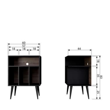James - Petit meuble de rangement en bois - Couleur - Noir[6/6]