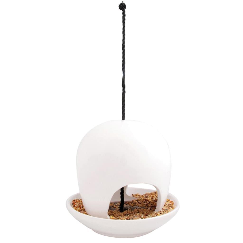 Afbeelding van Esschert Design Vogelvoederhuisje 18,5x18,5x17,8 cm wit FB191W