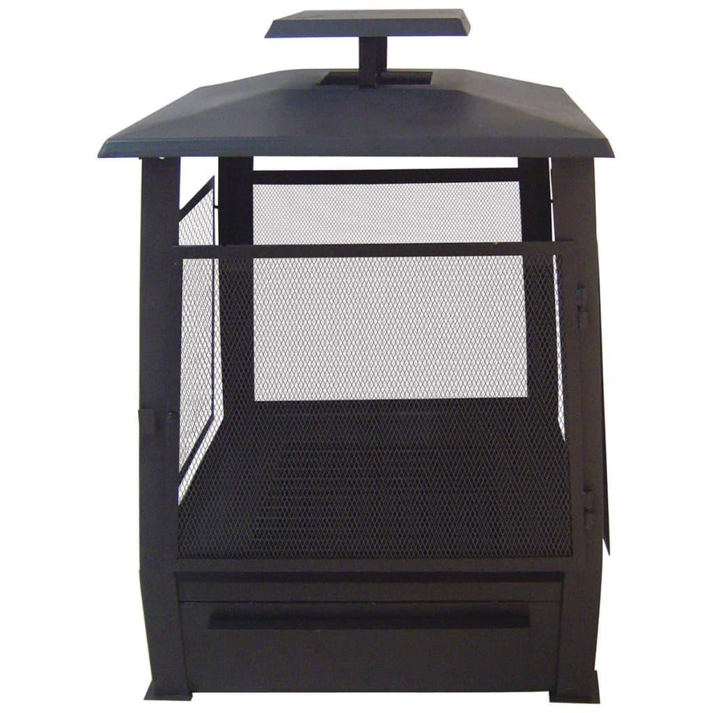 Afbeelding van Esschert Design Pagode terrashaard metaal 59 x 59 x 78 cm zwart FF122