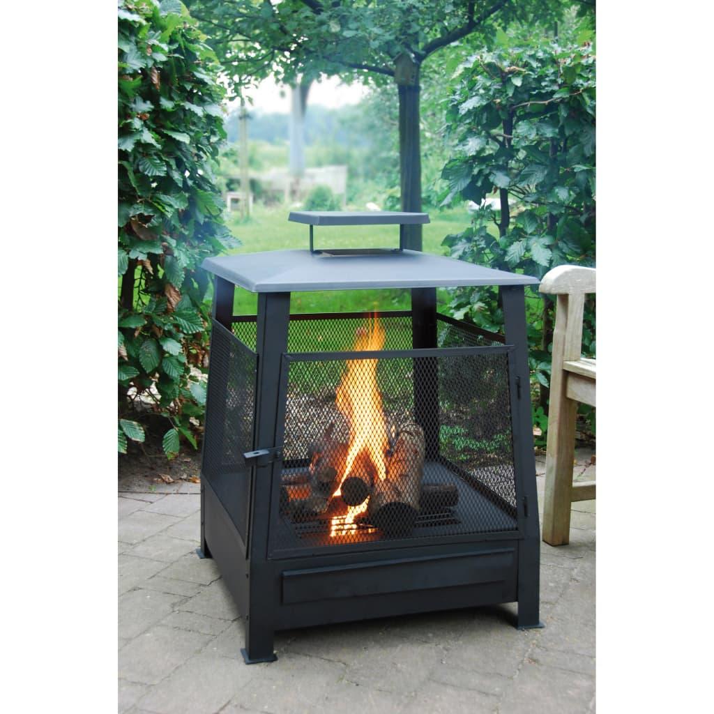 99411464 Esschert Design Pagoda Feuerstelle Metall 59 x 59 x 78 cm FF122
