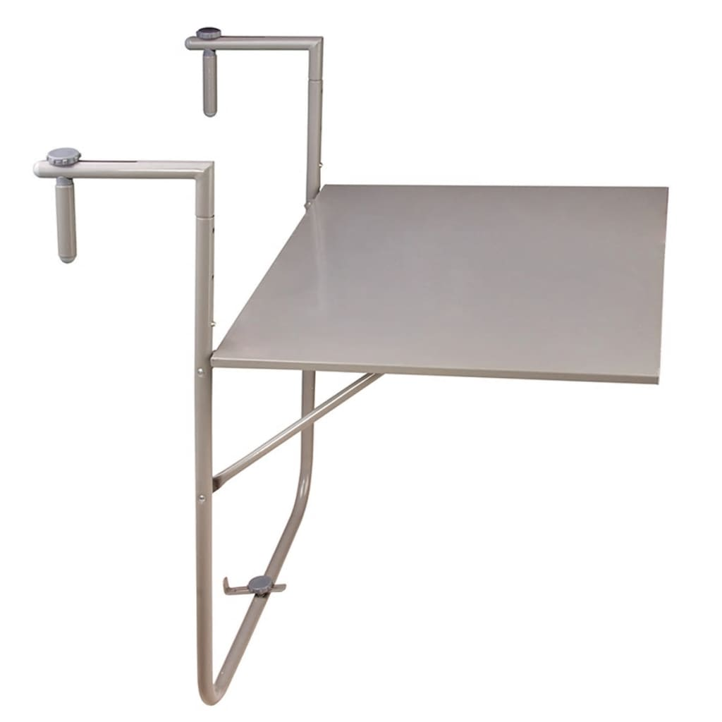 Esschert Design skládací balkonový stůl šedý BL001