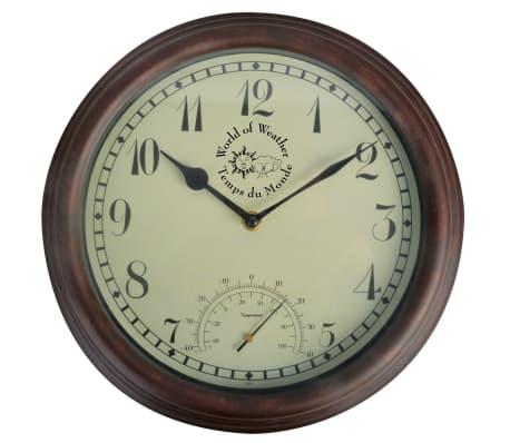 Esschert Design Station Clock with Thermometer 30.5 cm TF007 ...