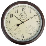Esschert Design Station Clock with Thermo-Hygrometer 30.5 cm TF008