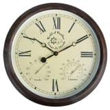 Esschert Design Reloj de estación con termo-higrómetro 30,5 cm TF009