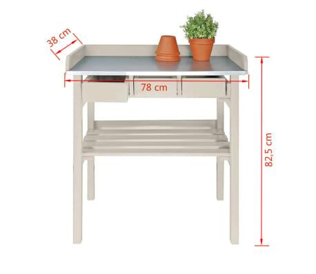 Esschert design garten arbeitstisch wei cf29w g nstig for Arbeitstisch design