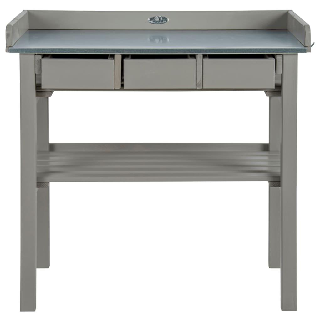 Esschert Design Zahradní pracovní stůl šedý CF29G
