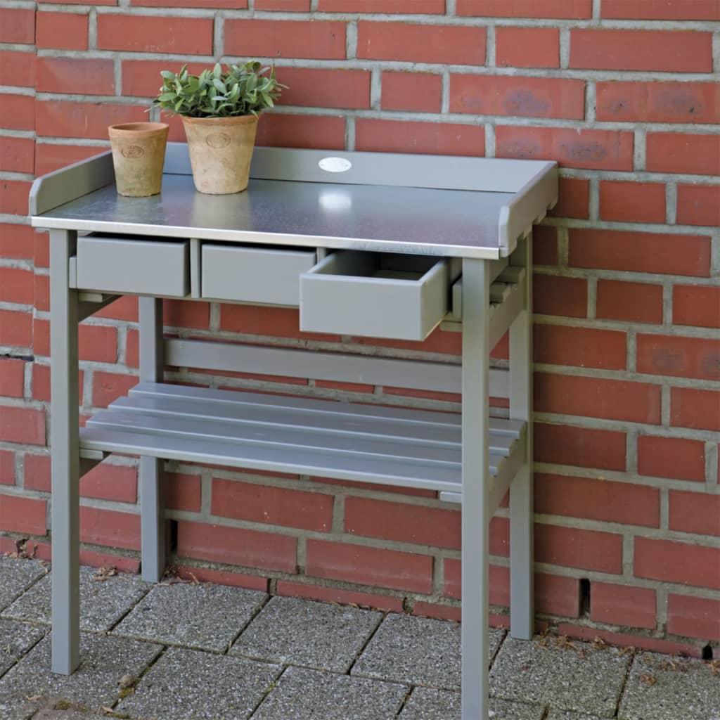 Esschert Design tuinwerktafel grijs CF29G