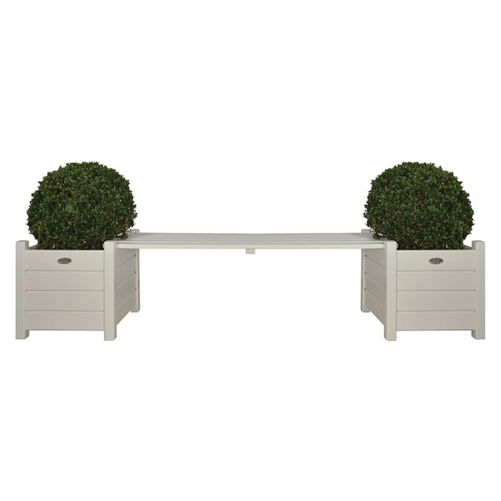 Esschert Design Tuinbank met Plantenbakken Wit