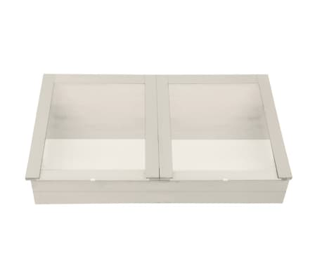 Esschert Design Cold Frame White CF34W Piood and Glass Gardening ...