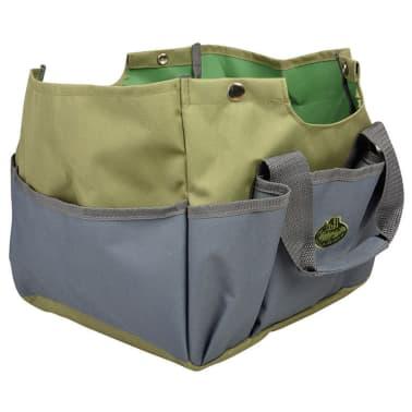 Esschert Design Sodo įrankių krepšys ir kėdutė, pilka, GT85[3/5]