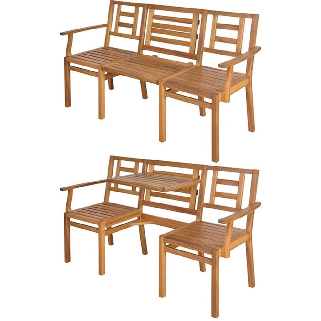 Afbeelding van Esschert Design Bank converteerbaar bank Chat hout BL055