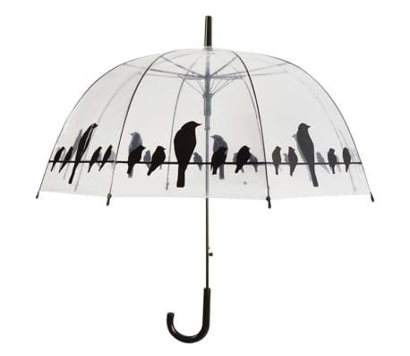 Esschert Design Parasolka Birds on a Wire, transparentny, TP166[1/2]