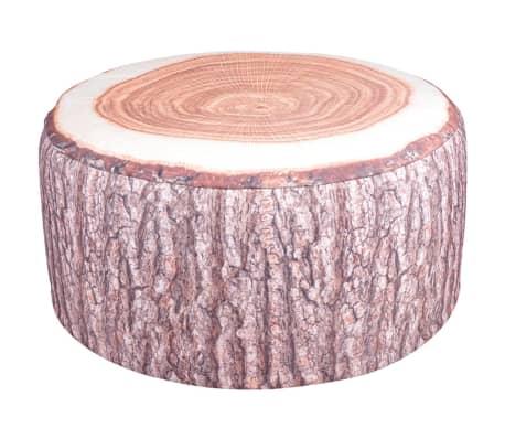 Pufe inflável para exterior com design tronco de árvore