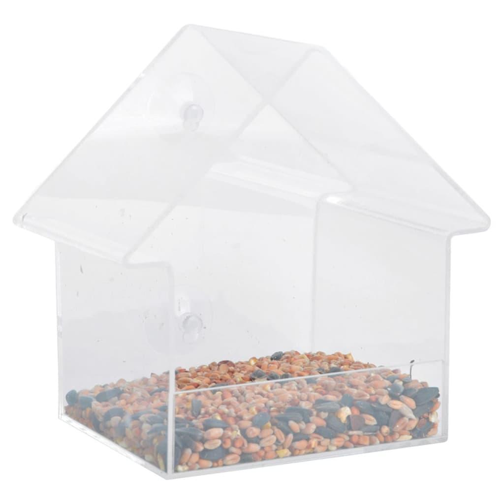 Esschert Design Akrylové krmítko do okna 15 x 10 x 15,3 cm FB370