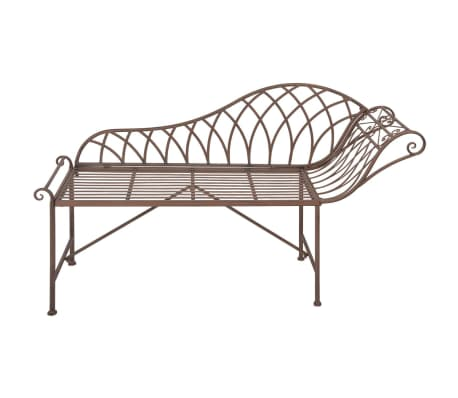 Esschert design chaise longue metal old english style mf016 - Chaise longue in english ...
