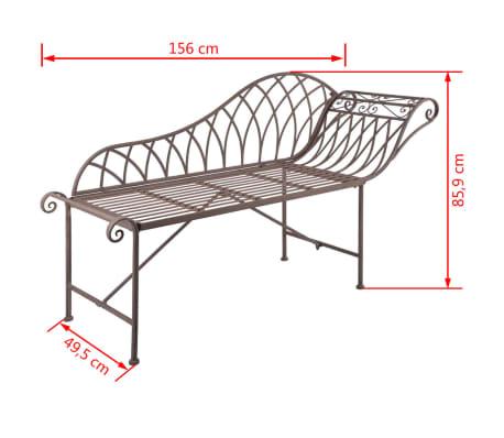 esschert design gartenliege sitzbank metall old english style mf016 g nstig kaufen. Black Bedroom Furniture Sets. Home Design Ideas