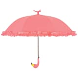 Esschert Design Umbrella with Ruffles Flamingo 98 cm Pink TP203