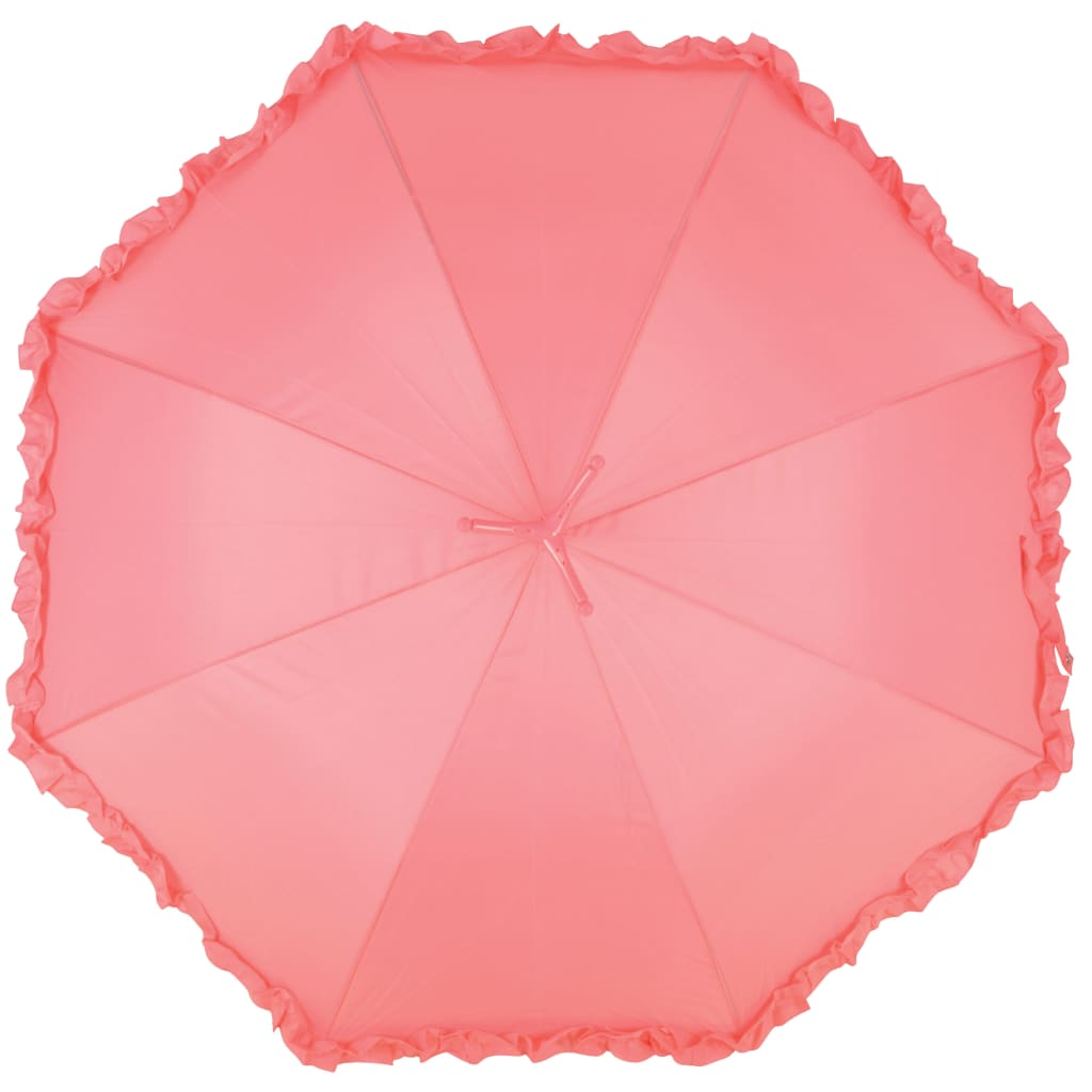 99421309 Esschert Design Regenschirm mit Rüschen Flamingo 98 cm Rosa TP203