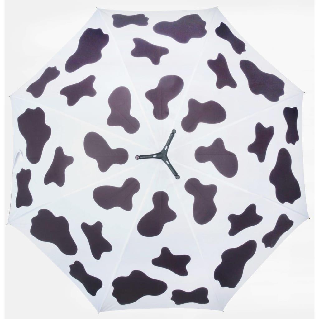 99421312 Esschert Design Regenschirm Cow 98 cm Weiß und Schwarz TP215