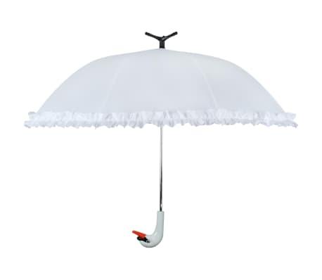 """Esschert Design Regenschirm mit Rüschen """"Swan"""" 99,5 cm Weiß TP256"""