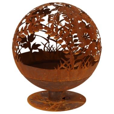 Brasero Fire globe en métal Fleur 58[1/2]