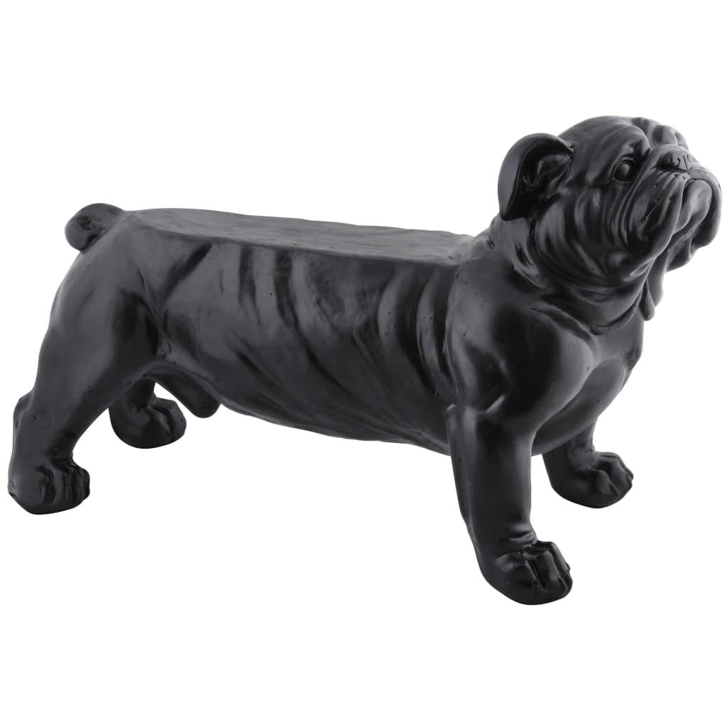 Esschert Design Bancă de grădină Bulldog negru AV14 vidaxl.ro