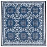 Esschert Design Zunanja preproga 151,5 cm modra in belea OC23