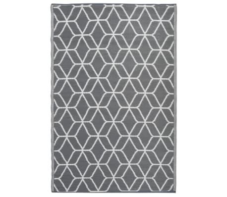 Esschert Design Outdoor Rug Graphics 180x121 cm Grey and White OC25 ...