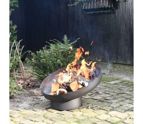 Esschert Design Feuerschale Schräglage Schwarz Stahl FF402[5/10]