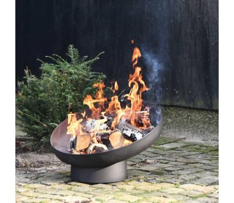 Esschert Design Feuerschale Schräglage Schwarz Stahl FF402[6/10]