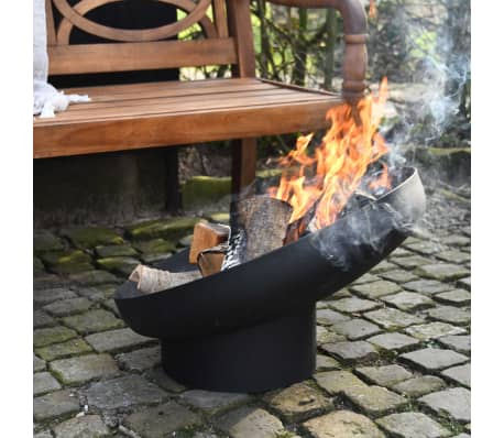 Esschert Design Feuerschale Schräglage Schwarz Stahl FF402[7/10]