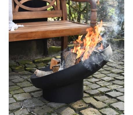 Esschert Design Feuerschale Schräglage Schwarz Stahl FF402[8/10]