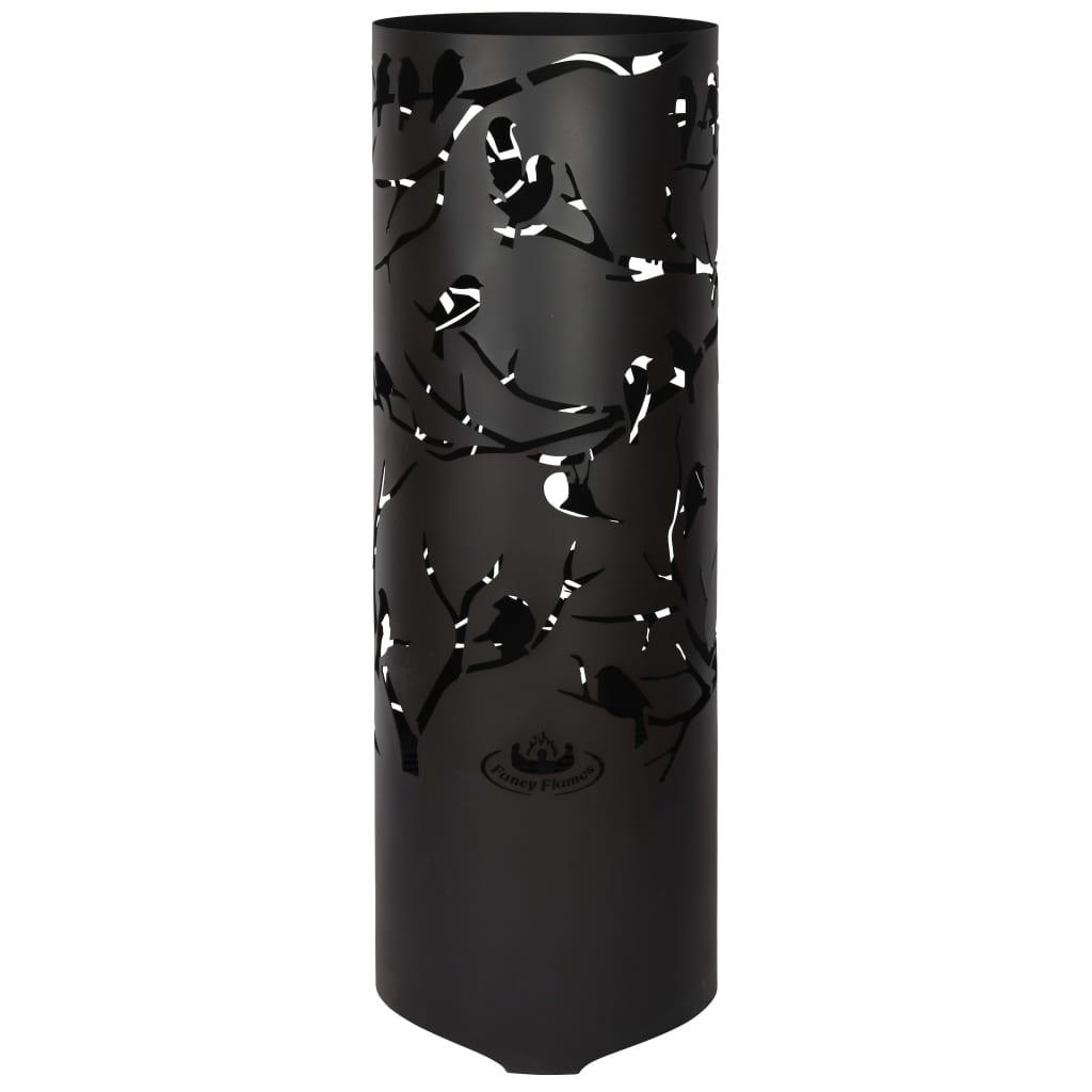 Afbeelding van Esschert Design Vuurton Birds on Twig koolstofstaal zwart FF409