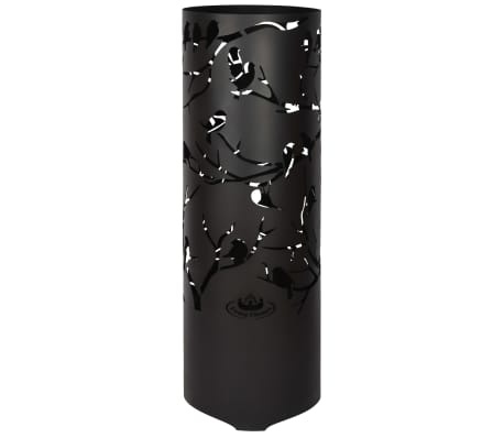 Esschert Design Brasero Birds on Twig acero al carbono negro FF409