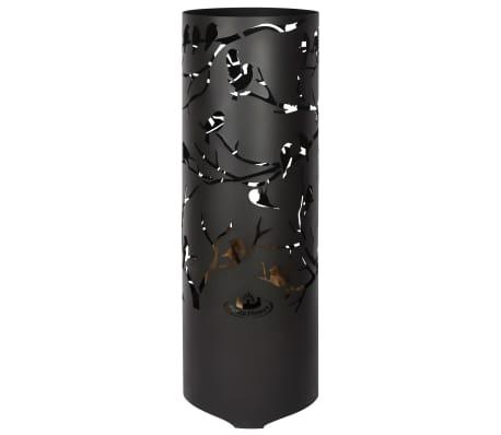 Esschert Design Baril à feu Birds on Twig Acier au carbone Noir FF409[4/7]