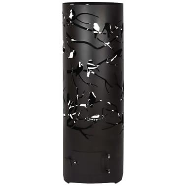 Esschert Design Baril à feu Birds on Twig Acier au carbone Noir FF409[2/7]