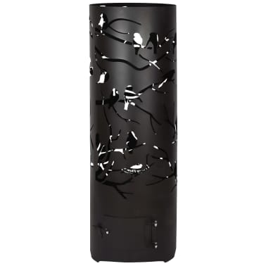 Esschert Design Baril à feu Birds on Twig Acier au carbone Noir FF409[5/7]