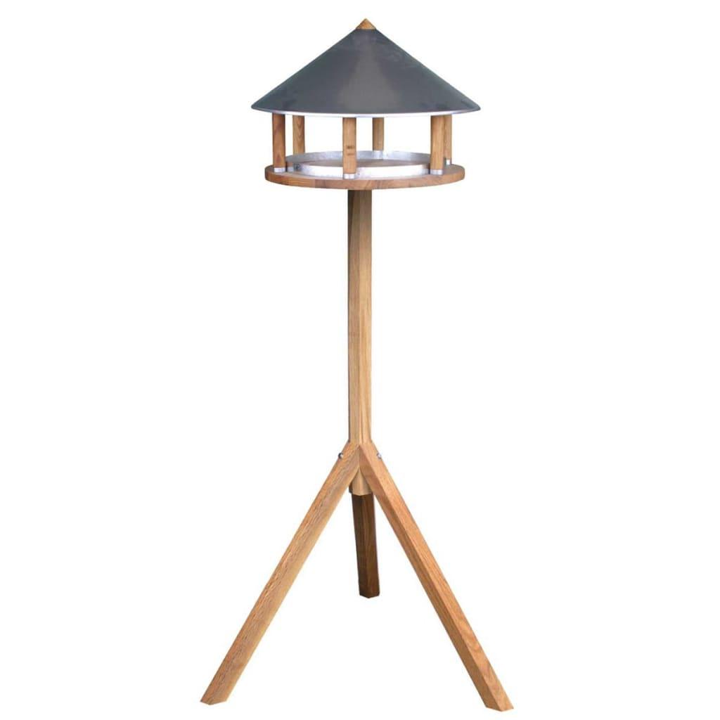 Esschert Design Hrănitor păsări triunghiular cu acoperiș de zinc FB431 poza vidaxl.ro