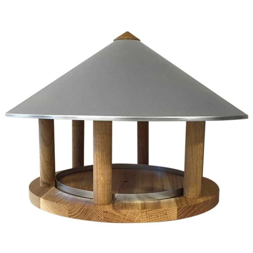 Esschert Design Voedertafel driehoekig met zinken dak FB431
