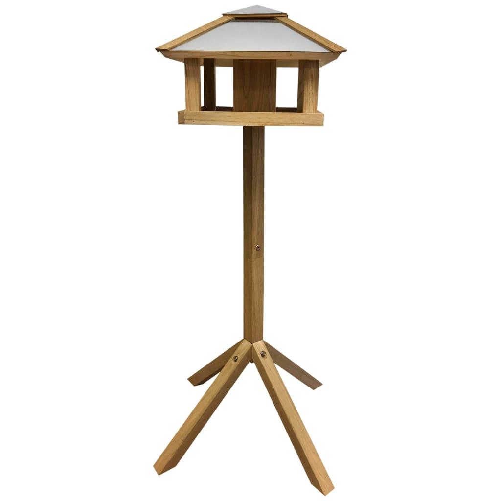 Esschert Design Hrănitor păsări pătrat cu acoperiș de oțel FB433 poza vidaxl.ro