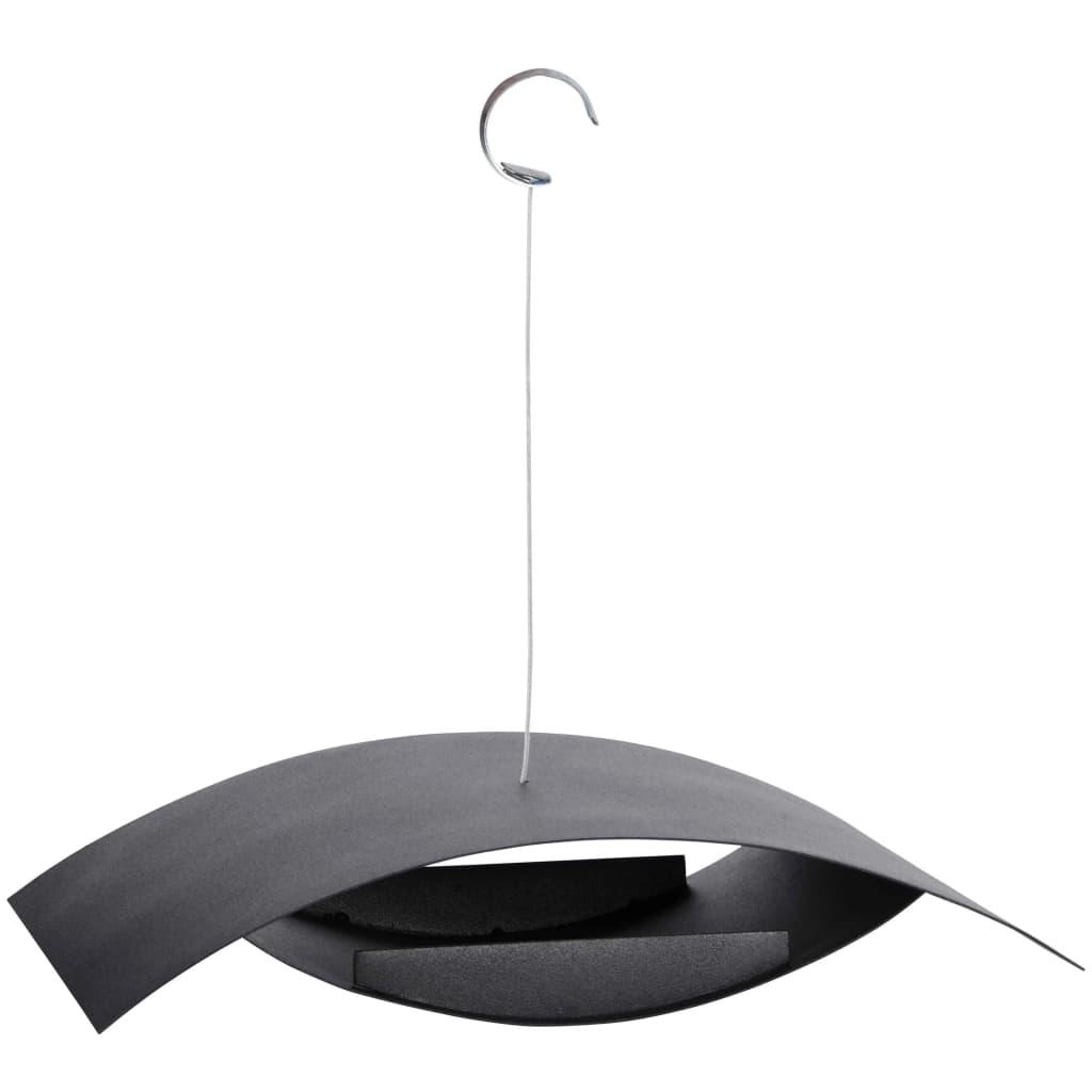 Afbeelding van Esschert Design Vogelvoederbak hangend zwart S FB437