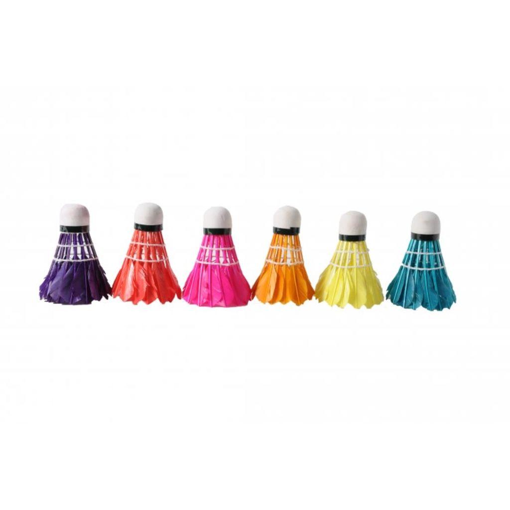 Afbeelding van Angel Toys Badminton Shuttles Veren Kleur 6 Stuks