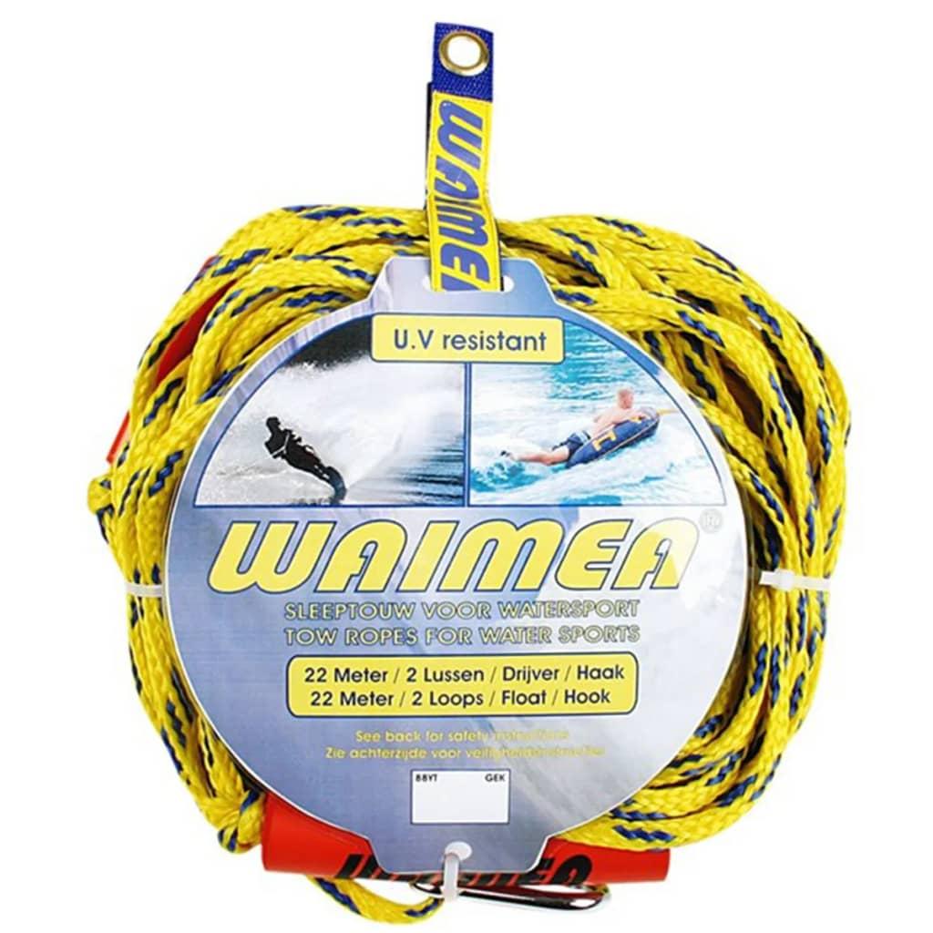 Waimea Frânghie remorcare sporturi nautice galben/albastru 88YT poza vidaxl.ro